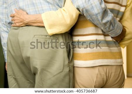 An elderly couple - stock photo