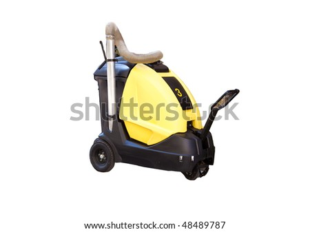 An electric street vacuum or cleaning machine, isolated on white - stock photo