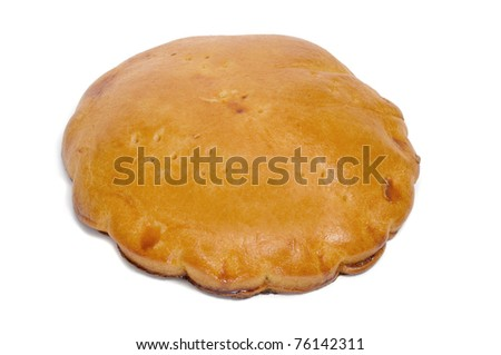 an empanada gallega, a typical cake from Galicia, Spain - stock photo