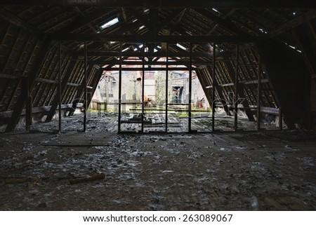 An empty, but fragile floor. - stock photo