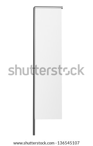 An empty flag or stopper for an add - stock photo