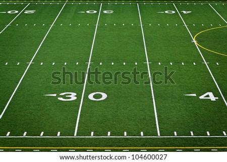 An empty high school football field - stock photo