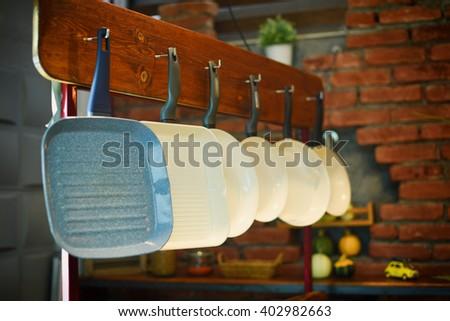 An empty pan - stock photo