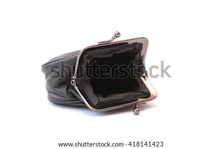 An empty purse - stock photo