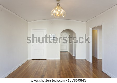An empty studio apartment.  - stock photo