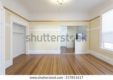 An empty studio apartment - stock photo