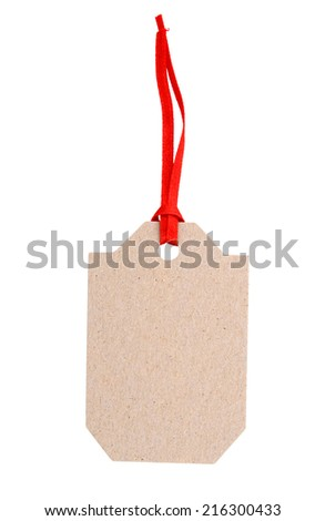 An empty tag  - stock photo