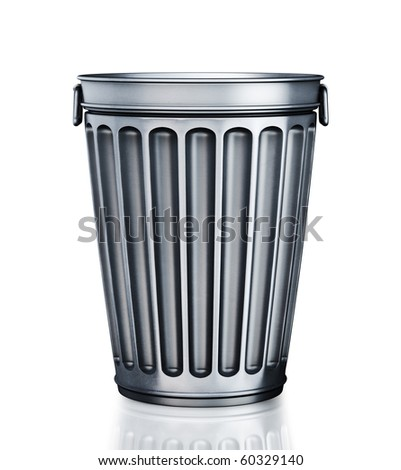 An empty trash can (3d render) - stock photo