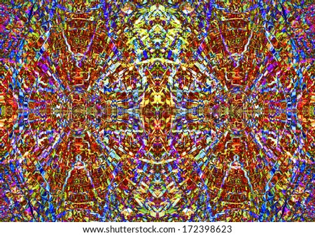 An eye-catching kaleidoscope of color for use as a background or texture. - stock photo
