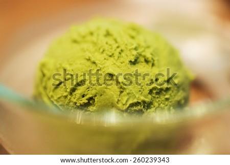 An Green Tea Ice Cream soft light . - stock photo