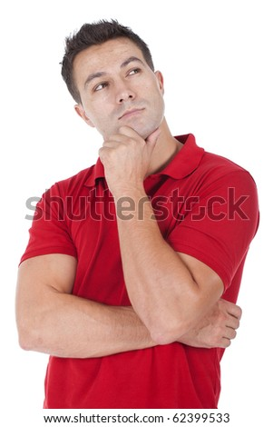 an handsome young man thinking - stock photo