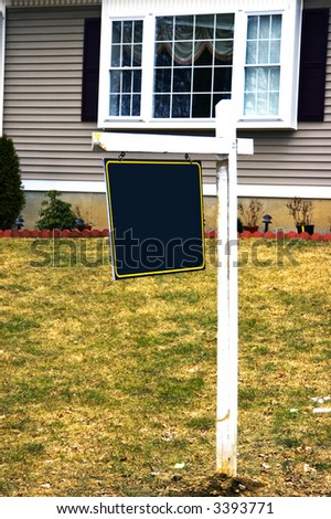 An house listed in the market for sale - stock photo