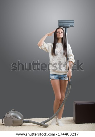 An ideal homemaker  - stock photo