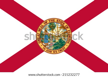 An Illustrated Drawing of the flag of Florida state (USA) - stock photo