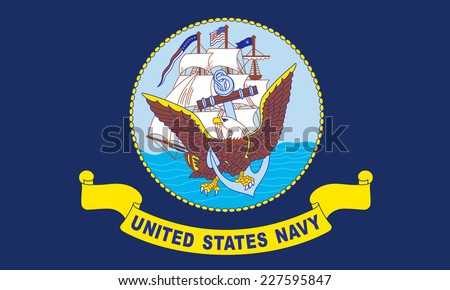 An Illustrated Drawing of the flag of Naval Forces US - stock photo