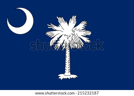 An Illustrated Drawing of the flag of South Carolina state (USA) - stock photo