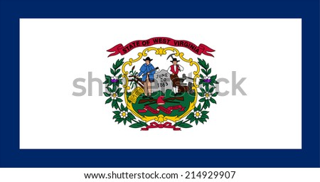 An Illustrated Drawing of the flag of West Virginia state (USA) - stock photo