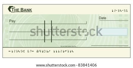 Funny Blank Cheques Blank Cheque Stock Photo