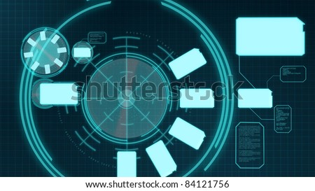 An illustration of a virtual menu - stock photo