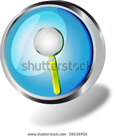an illustration of a web button - stock photo