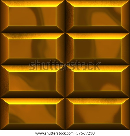 An illustration of golden bars in two rows - stock photo