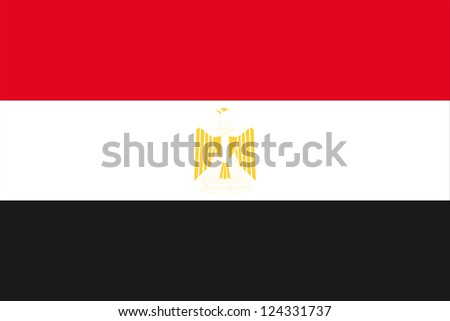 An illustration of the flag of Egypt - stock photo