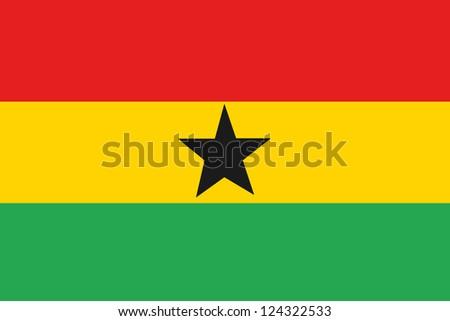 An illustration of the flag of Ghana - stock photo