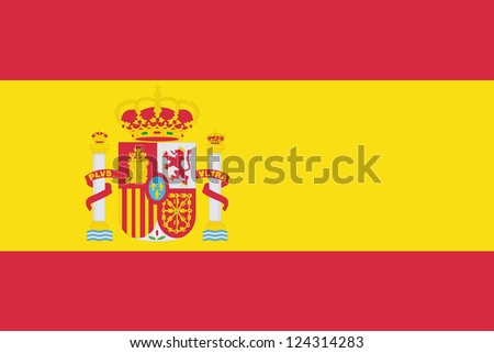 An illustration of the flag of Spain - stock photo