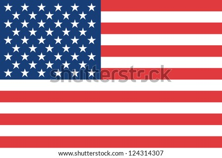 An illustration of the flag of the United States of America - stock photo