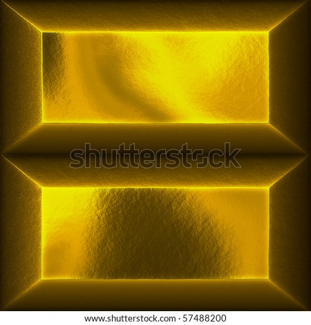 An illustration of two gold bars - stock photo