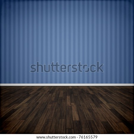 An image of a beautiful blue room - stock photo