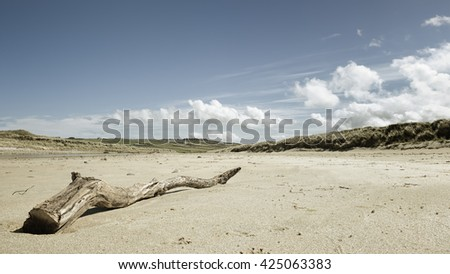 An image of a beautiful sand beach at Donegal Ireland - stock photo