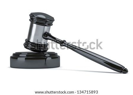 An image of a black judge gavel - stock photo