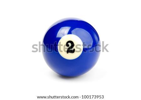 An image of a blue billiard ball - stock photo