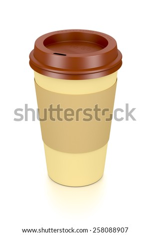 An image of a coffee to go cup - stock photo