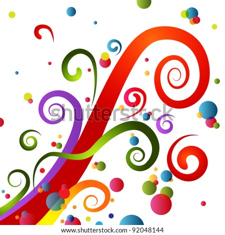 An image of a colorful festive party swirls. - stock photo