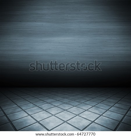 An image of a dark floor for your content - stock photo