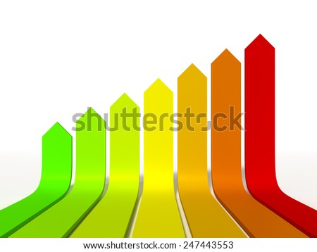 An image of a energy efficiency graphic - stock photo