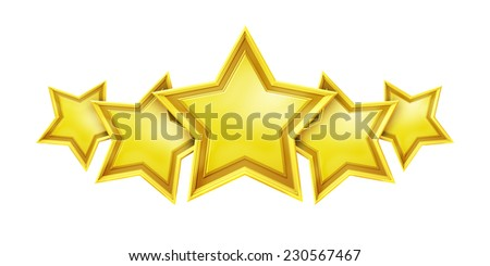 An image of a five star rating service - stock photo