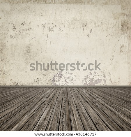An image of a grunge wooden floor background for your content - stock photo