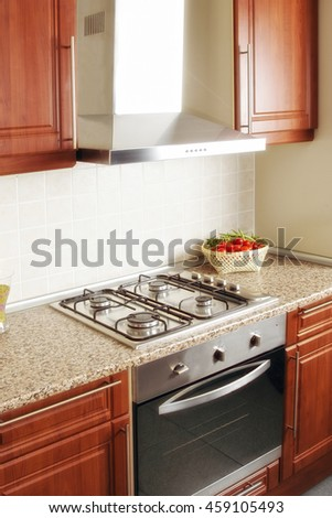 an image of a kitchen - stock photo