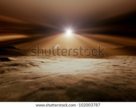 An image of a landscape without vegetation - stock photo