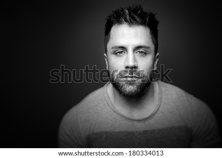 An image of a man with a beard - stock photo