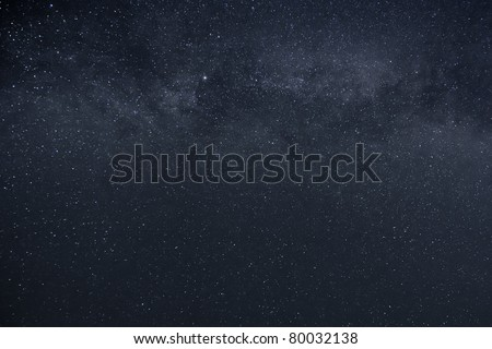 An image of a milky way stars background - stock photo