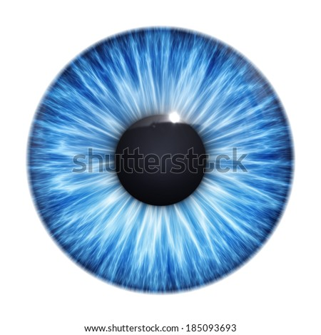 An image of a nice blue eye texture - stock photo