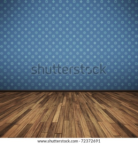An image of a nice blue floor for your content - stock photo