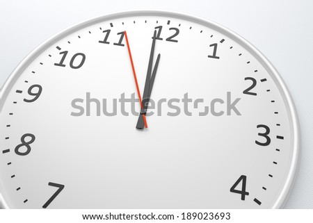An image of a nice clock with space for your message - stock photo