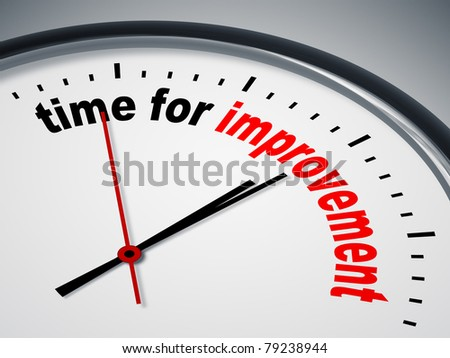 An image of a nice clock with time for improvement - stock photo