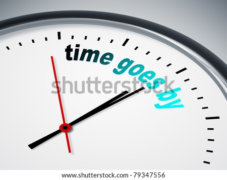 An image of a nice clock with time goes by - stock photo