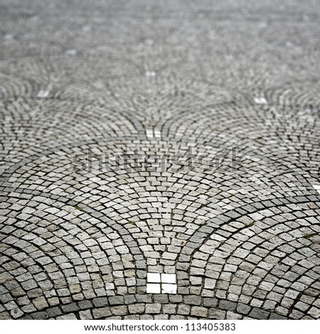 An image of a nice cobble stone background - stock photo
